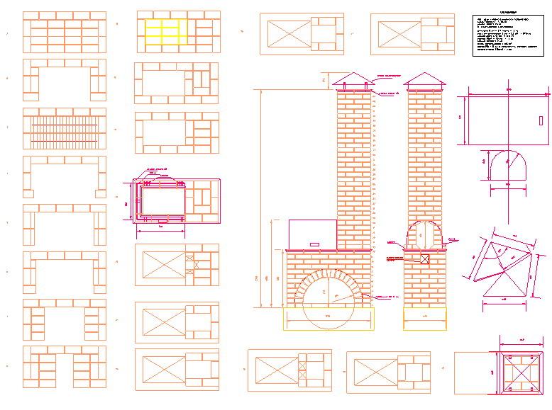 беседка с мангалом чертеж pdf - Хохлома.